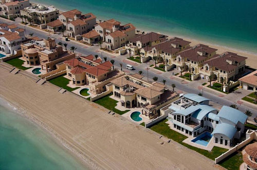 Beachfront residences on Palm Jumeirah in Dubai